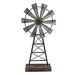 Home & Garden Foreside Small Windmill Table Rustic Decor