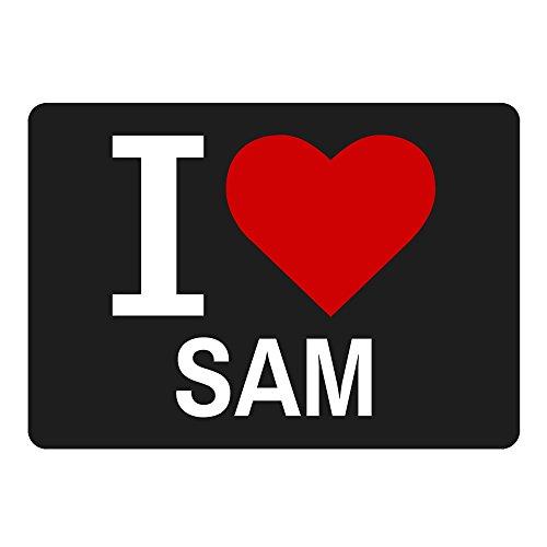 Muismat Classic I Love Sam zwart