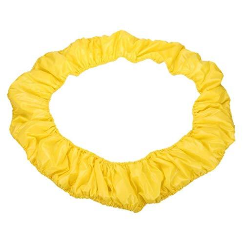 Shade Cama elástica Cubierta del Borde de Cama elástica Cama elástica Envolvente Pad Primavera Cubierta Lateral de protección para niños Trampolín Amarillo 54inch