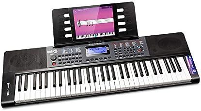 Rockjam 61 Tasto della Tastiera di Pianoforte con Foglio di Pitch Bend Leggio Pianoforte Nota Potere Adesivo di...