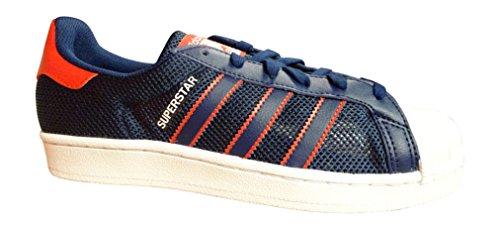 adidas Originals Superstar Scarpe Sportive Uomo Scarpe da Tennis - Blu Rosso Bianco bb5395, 41 1/3 EU