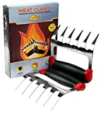 Arres Pulled Pork Claws & Meat Shredder - BBQ Grill Tools and Smoking Accessories for Carving, Handling, Lifting (Stainless Steel)