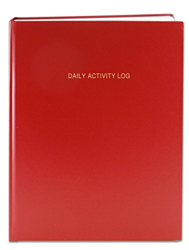 "BookFactory Daily Activity Log Book / 365 Day Log Book (384 Pages - 8 7/8"" x 11 1/4"") / 365 Page Diary, Red Cover, Smyth Sewn Hardbound (LOG-384-DAY-A-LRRT32)"