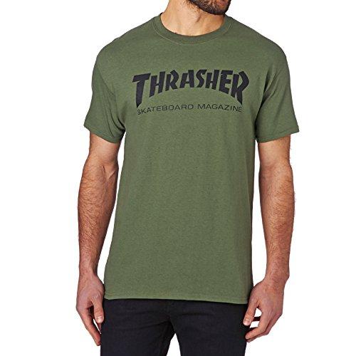 MAGLIETTA THRASHER SKATE MAG VERDE - S, verde