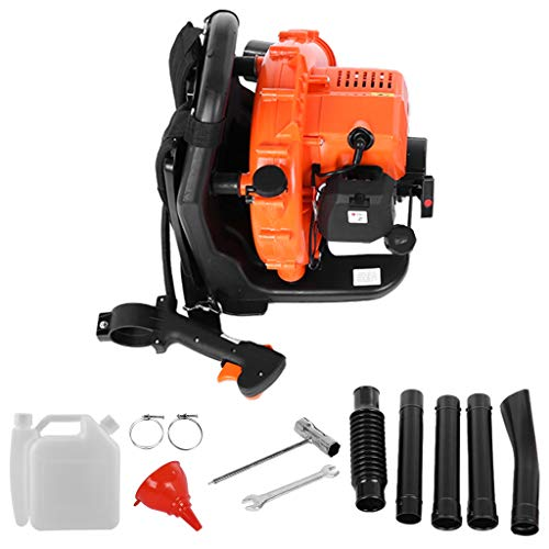 65cc 2-Stroke 210 MPH Engine Back Pack Leaf Blower Backpack Leaf Blower 2.3Hp High Performance Gas Powered Gasoline Blower for Lawn Garden Blowing Leaves Snow Debris & DustUS Stock