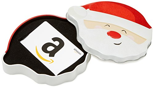 Amazon.com Gift Card in a Santa Smile Tin
