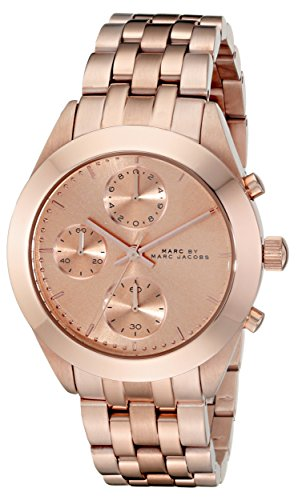 Marc by Marc Jacobs Women's MBM3394 Rose Gold-Tone Stainless Steel Watch with Link Bracelet