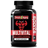 Simply Nutra Multivital MultiVitamin Sports with 60+ Nutrients - 90 Tablets