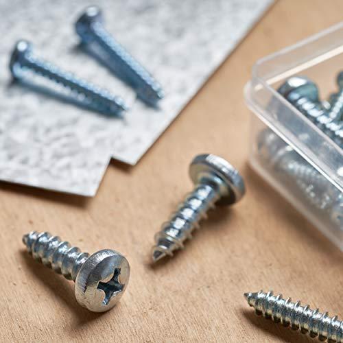 Qualihome Pan Head Phillips Drive Sheet Metal Screws Assortment Kit, 140 Pieces