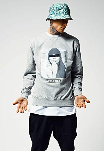 Mister Tee Herren F#Kit Crewneck Sweatshirts, Grey, XXL