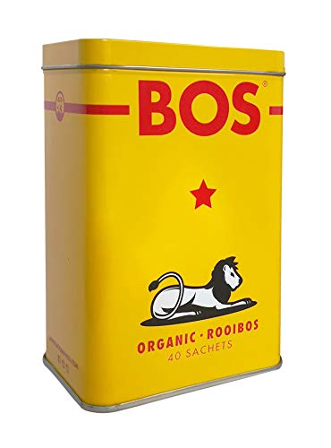 Rooibos BOS 100 grammi, 40 filtri, confezione in latta (1)
