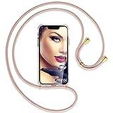 mtb more energy Collar Smartphone para Motorola Moto G6 Plus, G6+ (5.9'') - Oro Rosa/Oro - Funda Protectora ponible - Carcasa Anti Shock con Cuerda