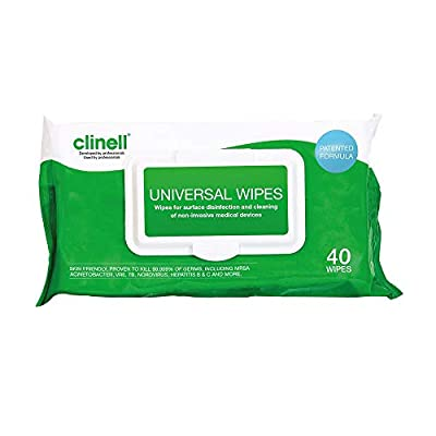 Clinell GCW40 Universal Sanitising Wipes (Pack of 960) by Clinell