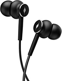 Leaf Dash 2 Wired Earphones with mic and Inline Remote Control, Single Press Call Pickup with Google Assistant(Carbon Black)