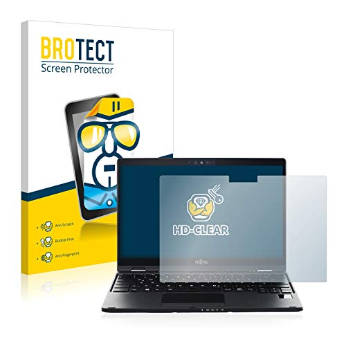 BROTECT Schutzfolie kompatibel mit Fujitsu Lifebook U939X klare Bildschirmschutz-Folie