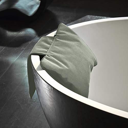 Decor Walther Loft NKHG Nackenkissen für Badewanne, grau Nylon wasserabweisend mit Gegengewicht waschbar bei 30 Grad