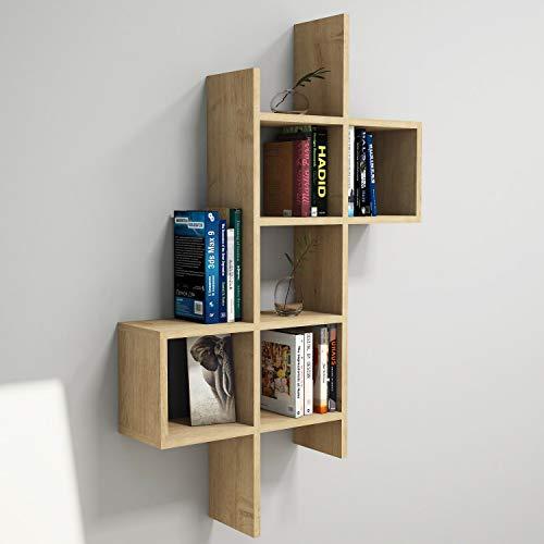 Vivense Keno estantería de pared – estantes flotantes y unidades de exposición, decoración de pared y almacenamiento del hogar