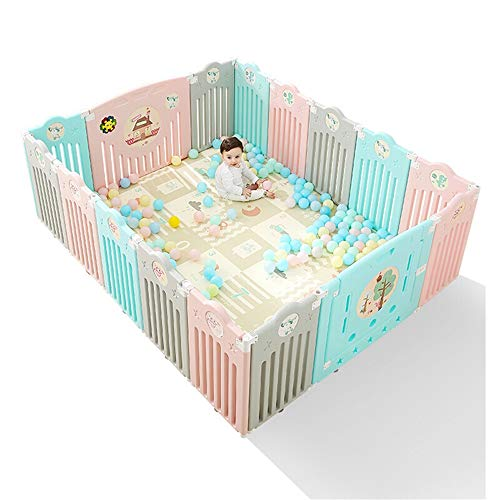 Best Prices! Tuuertge Foldable Baby Playpen Children's Playpen Baby Infant Safety Crawling Indoor Ho...