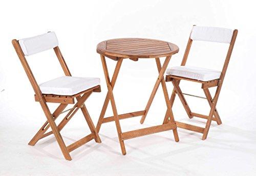 Gablemere Greenhurst - Juego de Mesa y sillas Estilo Bistro - Acabado Natural, Natural