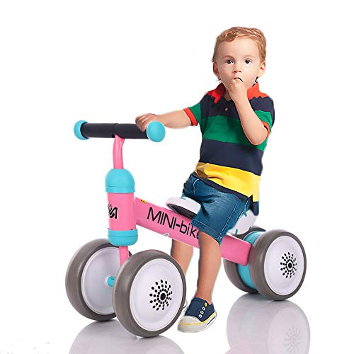 LBLA Baby Balance Bikes Bicycle Children Walker 10 Month -24 Months Toys for 1 Year Old No Pedal Infant 4 Wheels Toddler First Birthday Gift