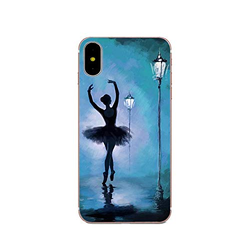 Zachte hoes voor iPhone 4 4S 5 5C 5S SE 6 6S 7 8 Plus X XS Max XR Ballet Ballerina Ballet Slippers, For iPhone 7, Als foto 2