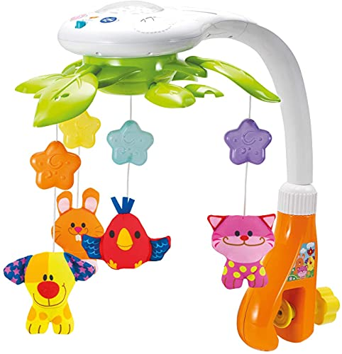 KiddoLab Baby Crib Mobile with Lights and Relaxing Music