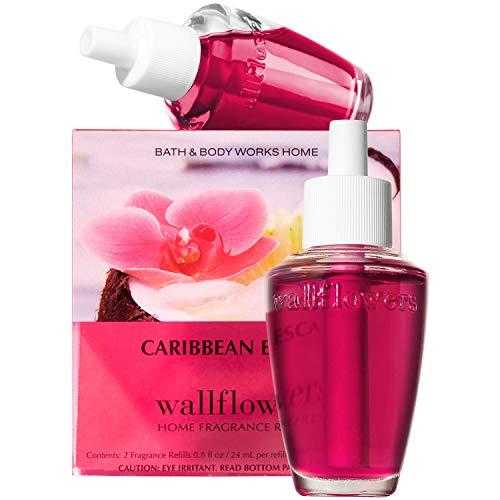 Bath & Body Works Caribbean Escape Home Fragrance Wallflowers Refills, 0.8 Fl Oz, 2-Pack