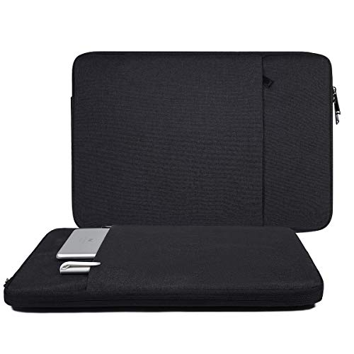 15.6 Inch Laptop Sleeve Case for Acer Aspire 5/Aspire E 15, HP Pavilion x360 15.6', Lenovo Yoga 730 15.6, Acer Predator Helios 300/HP Premium/Dell Inspiron 15 Protective Sleeve Case(Black)