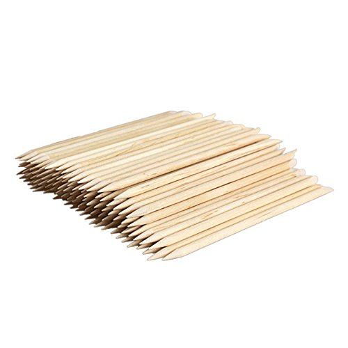 100 Pcs Tampa Mall Overseas parallel import regular item Nail Art Finger Toe Tool Design Wood Care Angled Two-End