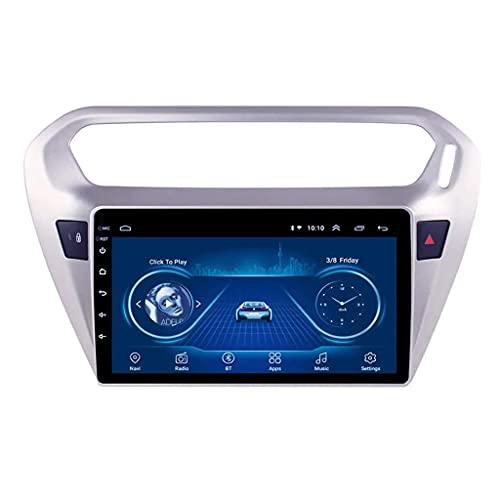 ZHANGYY Sat Car Stereo GPS Navegación Audio al Media FM Unidad Principal Multimedia - Aplicable Compatible con Peugeot 301 2014-2018, Radio con Reproductor automático Android de 9 Pulgadas