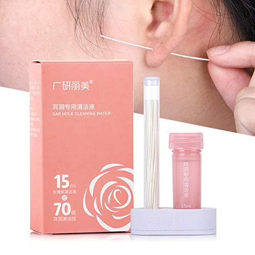 Ear Hole Cleaning Line, Reinigungslinie Für Ohrlöcher, Durchbohrte Ohrreinigungslösung, Ohrreiniger, Ohrenreiniger, Ear Cleansing Tool, Reinigung Entkalkung Geruchsresistent