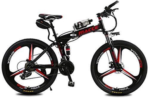 RDJM Bici electrica Bicicleta de montaña eléctrica, 12Ah Gama de batería de litio de alta eficiencia de 12Ah de kilometraje de 30-50 km-altas Bicicleta eléctrica de acero al carbono de 26 pulgadas, fr