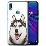 Handy Hülle kompatibel mit Huawei Y6 2019 w/FP Scanner H&/H&e Husky/Heiser Transparent Klar Ultra Sanft Flexibel Silikon Gel/TPU Hülle Cover
