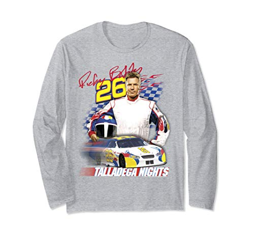 Talladega Nights Ricky Bobby Wonder Bread Race Car Portrait Long Sleeve T-Shirt