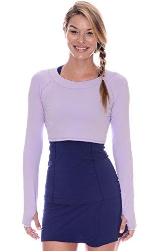 BloqUV Women's Crop Top-Medium-Lavender
