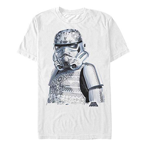 Men's Star Wars Henna Stormtrooper Armor T-Shirt - White - Medium