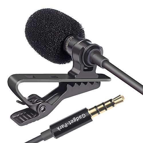 Professional Lavalier Microphone, Lapel Microphone 3.5mm CTIA Jack for Recording YouTube/Tiktok/Video Conference/Podcast/Voice Dictation, Compatible with PC iPhone Android Smartphones (4.9ft)