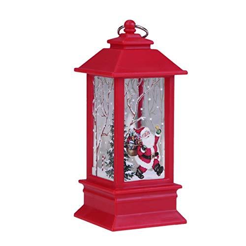 MLYWD Weihnachtskarte mit LED Teelicht Kerzen für Weihnachtsdekoration Teil Aus Ähnliche Beleuchtet Adventsschmuck Elch Weihnachtsmann Schneemann Schloss Lampen
