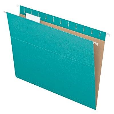 Pendaflex Recycled Hanging Folders, Letter Size, Aqua, 1/5 Cut, 25/BX (81616)
