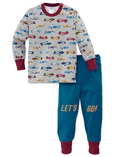 CALIDA Baby-Jungen Toddlers Cars Zweiteiliger Schlafanzug, Mehrfarbig (Faience Blue 507), (Herstellergröße: 80)