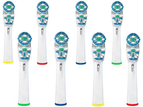 STARTPRO Ricambi per Spazzolino Elettrico Compatibile con Oral B Braun, 8 Pezzi DOPPIA PULIZIA Testine di ricambio per spazzolino elettrico compatibile con Oral-B Braun