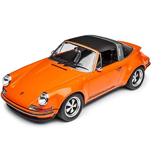 KK-Scale Porsche 911 Singer Urmodell Targa Cabrio Orange 1963-1973 limitiert 1 von 1250 Stück 1/18 Modell Auto mit individiuellem Wunschkennzeichen