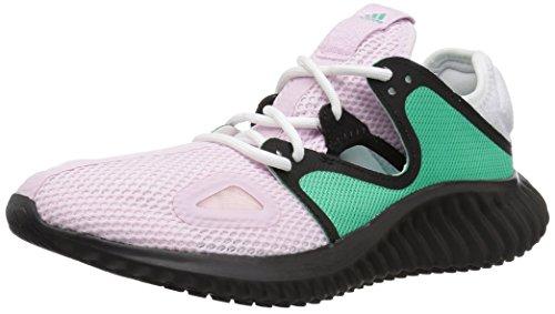 adidas Women's Run Lux Clima Shoe, aero Pink/hi-res Green/core Black, 7 M US