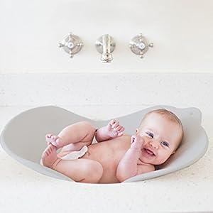 Puj Flyte パジ バスタブ 洗面台やシンクで 立ったまま沐浴 座浴 グレー