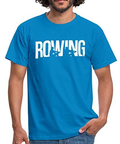 Rowing Rudern Boot Wassersport Männer T-Shirt, XL, Royalblau