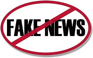 American Vinyl Oval No Fake News Bumper Sticker (Anti MSN Trump Political)
