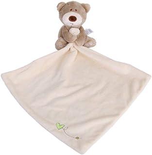 幼児ハンカチクマコンフォートタオルホワイト Baby Handkerchief Bear Soothing Towel Saliva Towel Doll Super Soft And Non-Shedding Pp Cotton Comfor...