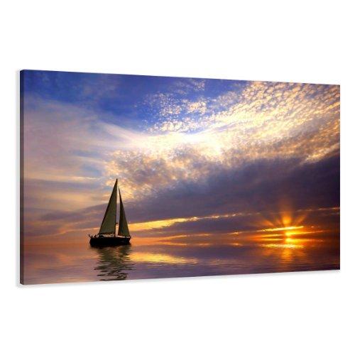 Visario Leinwandbilder 5097 Bild auf Leinwand Segel, 120 x 80 cm
