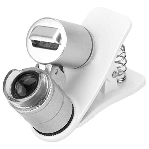 April Gifts 60X Mini Microscope Pocket Loupe Magnifying Glass + LED Clip-on Micro LensCounterfeit Detector Magnifier