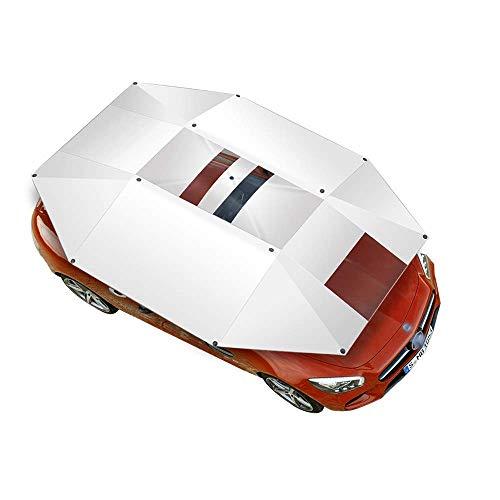 LLSS Car Tent Cover, Full Manual Car Tent Cover, Auto Anti Sunshine Umbrella, Anti-Gale Windproof Tent, Car Sunshade Sunscreen Cooling Rain Protection Cover, Vehicle Anti-UV P